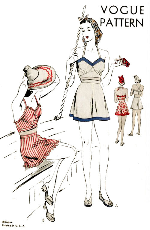 1940's vintage Vogue playsuit pattern