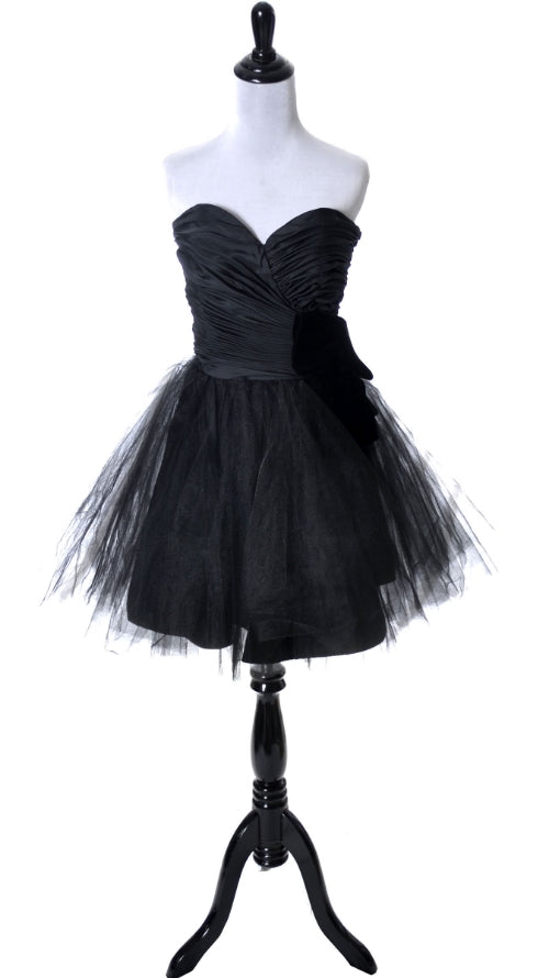 Lillie Rubin 1980's vintage black dress