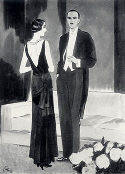 1929 Carl Erickson illustration Chanel