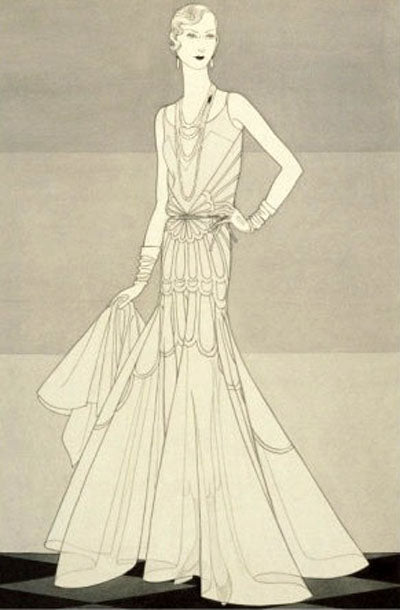 Chanel Evening Gown by Douglas Pollard April 1930 - Vogue