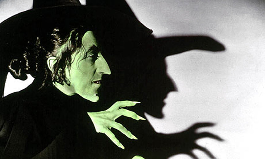 Margaret Hamilton as the Wicked Witch of the West in The Wizard of Oz 1939