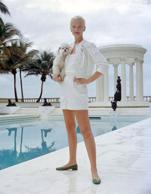 CZ Guest in a lovely all white swimwear ensemble in 1962