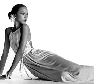 Pat Cleveland in Halston  Dress