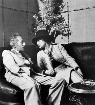 Coco Chanel with Jean Cocteau