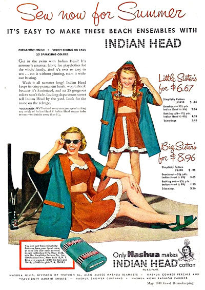 Indian Head Cotton Fabric Ad