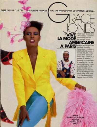 Grace Jones in Patrick Kelly