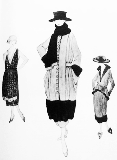 1916 Chanel fashion Illustration