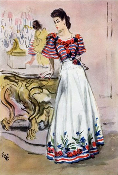 Chanel Fashion illustration Carl Erickdon 1939