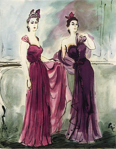 Carl Erickson - Chanel fashion illustration - Eric 1939 Vogue