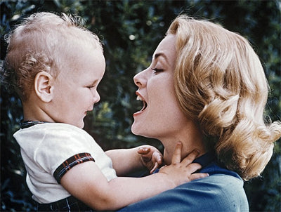 Princess Grace with son Albert in 1958
