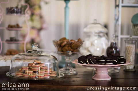Vintage wedding table styling
