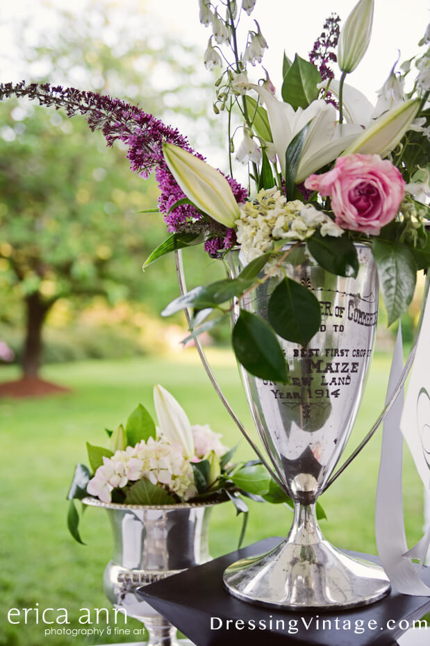 Trophy wedding centerpiece