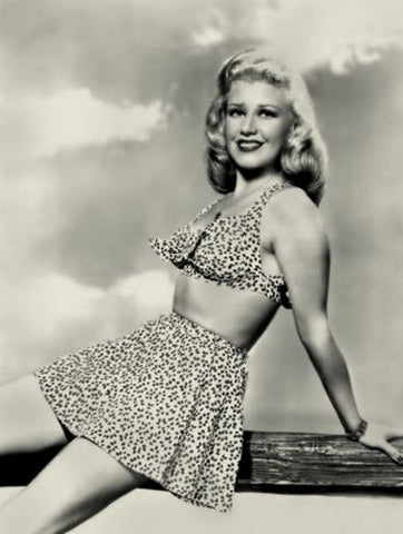 Ginger Rogers Leopard Two Piece