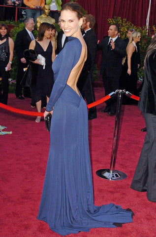 Hilary Swank in Guy Laroche