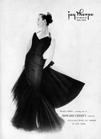 "Howard Greer ""black comet"" dress from his ready to wear line at Jay Thorpe New York"