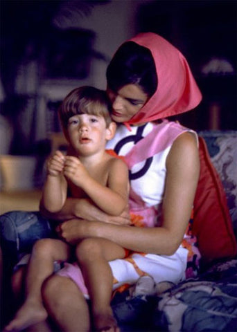 Jacqueline Kennedy in a Head Scarf