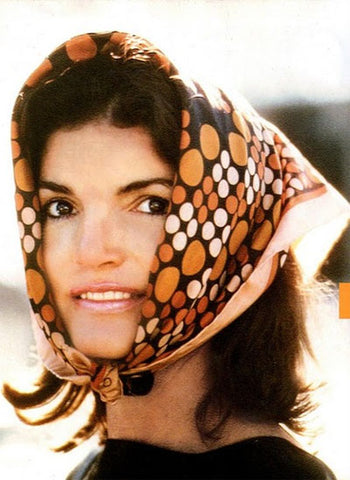 Jackie O in a Head Scarf