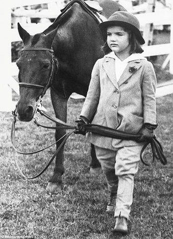 Jackie Bouvier and a Horse