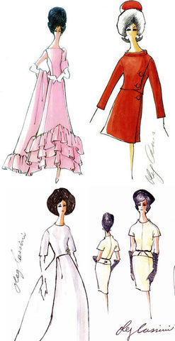 Jackie O Oleg Cassini Sketches