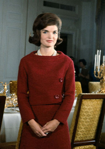 Jackie Onassis Kennedy in a Red Dress
