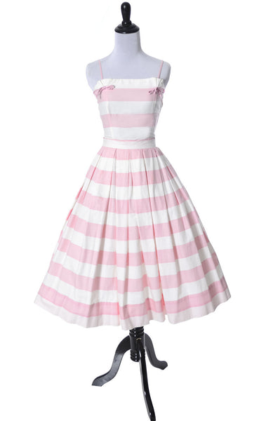 Pink Striped vintage sun dress