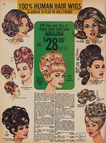 Vintage Mail in Order Form For Wigs