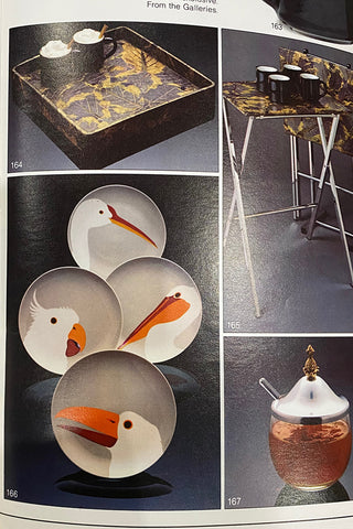 vintage tv trays and plates