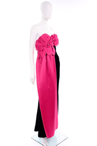 victor-costa-vintage-pink-evening -gown