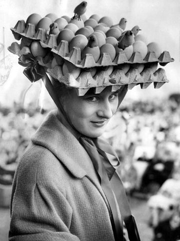 Egg Crate Easter hat