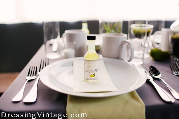 Custom lemoncello wedding favor