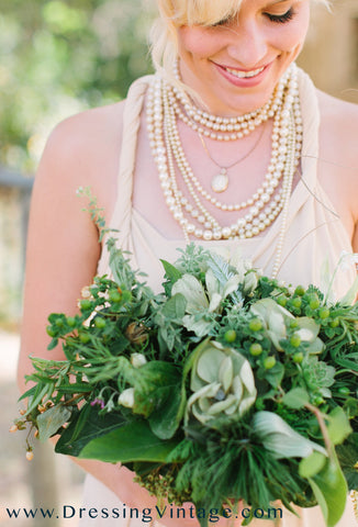 Vintage Pearl Necklaces Bridesmaid