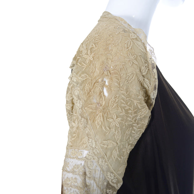 Vintage Silk Dress Lace 1920s