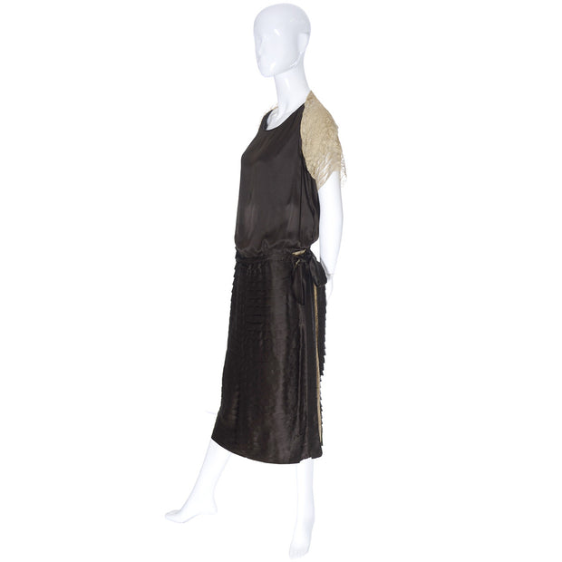 Vintage Dress 1920s Silk Lace