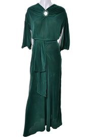 1930s Green Vintage Hostess Gown