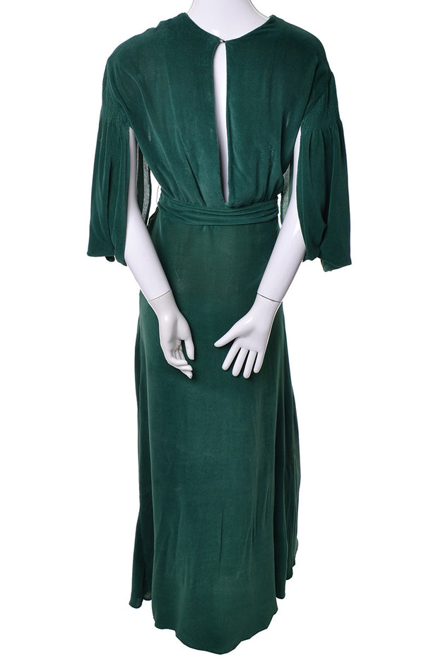 1930s 1930s Green Vintage Hostess Gown
