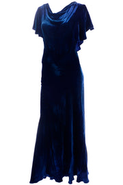 vintage 1930s velvet bias cut dress