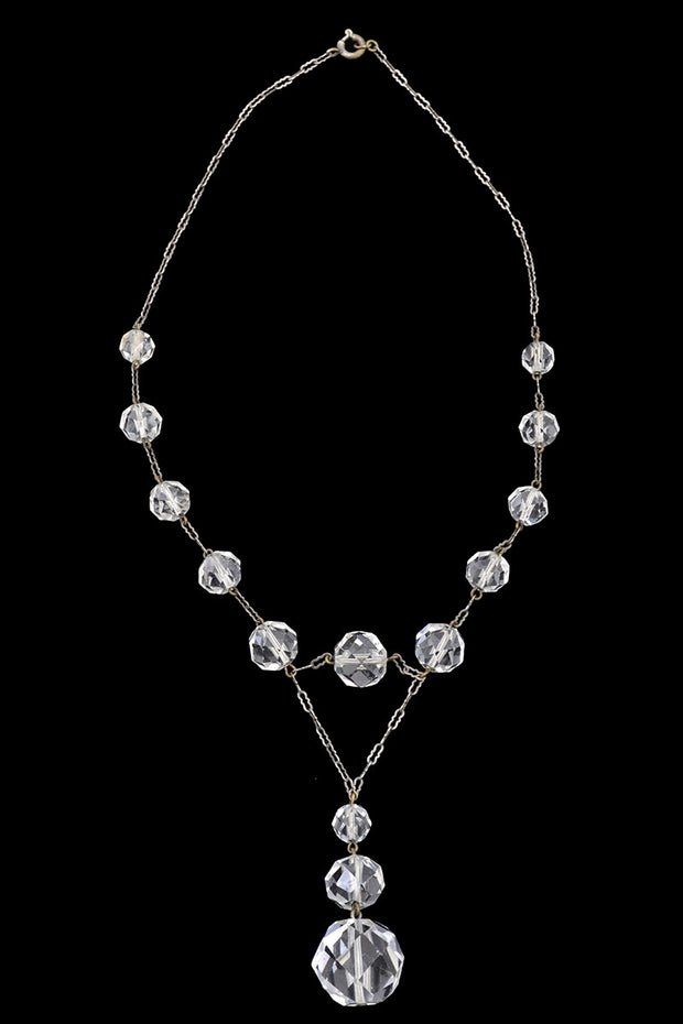 1930s Crystal Drop Vintage Necklace - Dressing Vintage