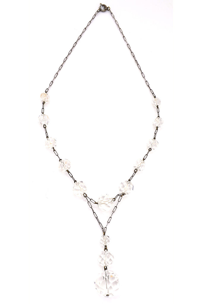 1930s Crystal Drop Vintage Necklace