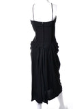 1930s or 1940s Black Pleated Vintage Cocktail Dress