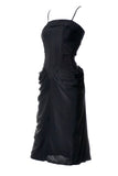 1930s or 1940s Black Vintage Cocktail Dress
