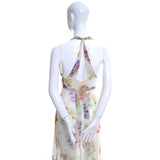 Vintage Dress 1930s Silk Chiffon Halter Bolero