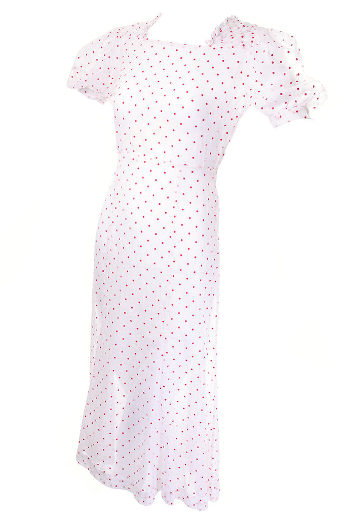 1930's sheer polka dot day dress