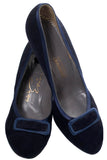 Vintage Evins shoes blue velvet