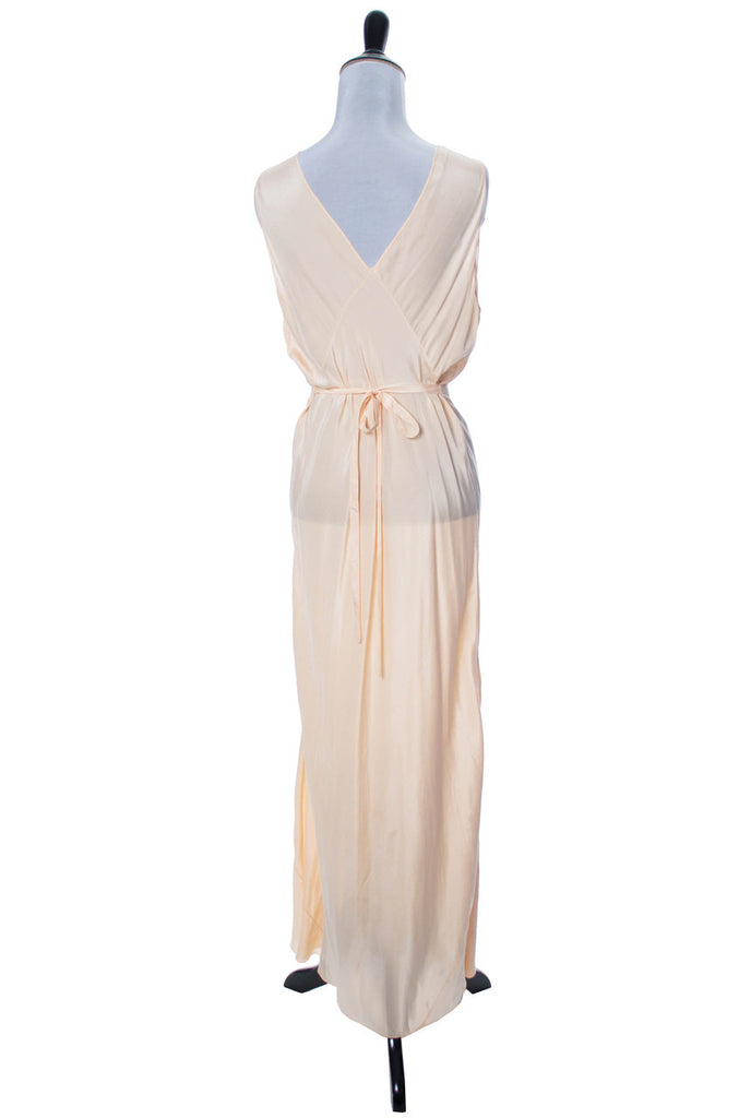 1930s vintage nightgown negligee peach silk