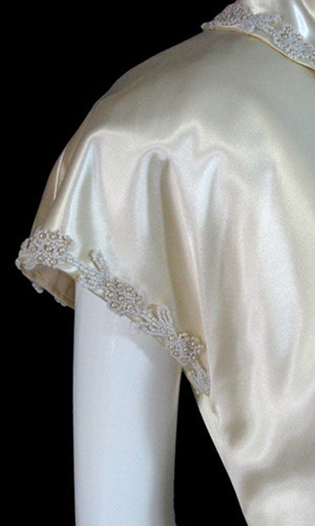 vintage 1940s wedding dress beaded