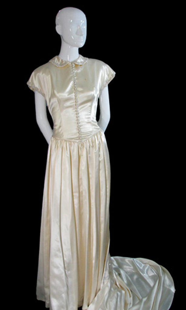 1940s wedding gown
