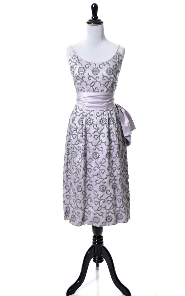Purple 1950s embroidered vintage cocktail dress Harold\'s Minneapolis ...