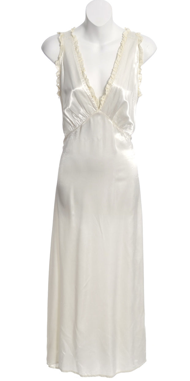 1930's Ivory Silk and Lace Vintage Nightgown - Dressing Vintage