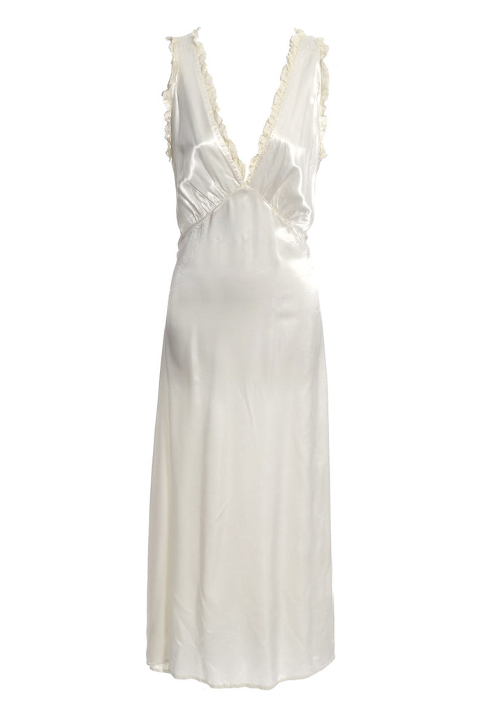 1930's Ivory Silk and Lace Vintage Nightgown
