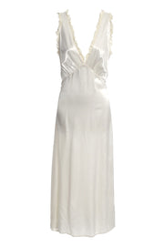 1930s Nightgown in Ivory Silk and lace
